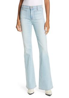 Veronica Beard Florence High Waist Flare Hem Jeans (Aire)