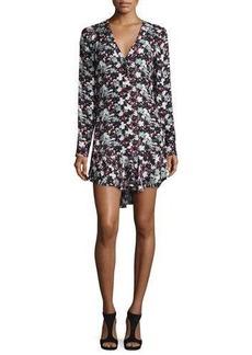 Veronica Beard Franklin Floral Silk Flounce Dress