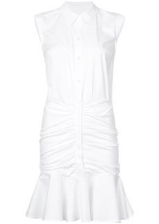 Veronica Beard frill-trim shirt dress - White