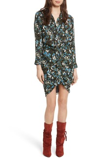 Veronica Beard Georgina Floral Print Silk Dress