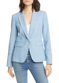 Veronica Beard Glen Plaid Cotton Blend Dickey Jacket