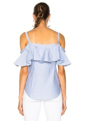 e6d4bb82c1b0c9 Veronica Beard Veronica Beard Grant Off the Shoulder Ruffle Shirt ...
