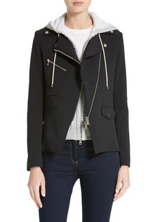 Veronica Beard Hadley Neoprene Moto Jacket