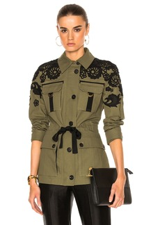 Veronica Beard Heritage Utility Jacket with Lace