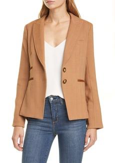 Veronica Beard Hudson Plaid Wool Blend Dickey Jacket