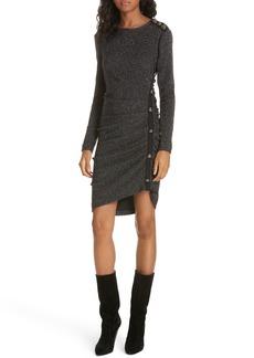 Veronica Beard Ira Ruched Tweed Minidress
