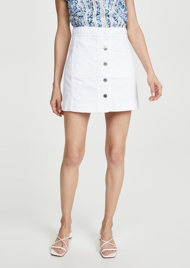 Veronica Beard Jean Aron Braided Miniskirt