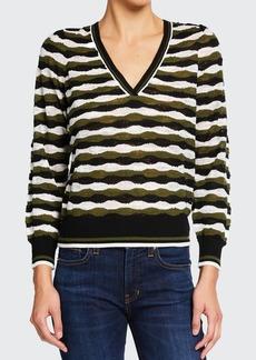 Veronica Beard Jeans Rosalin Merino Pullover Sweater