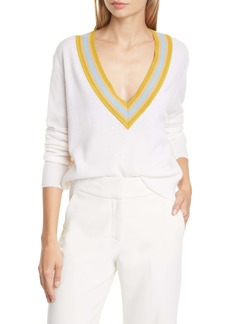 Veronica Beard Jessel Merino Wool & Cashmere Tennis Sweater