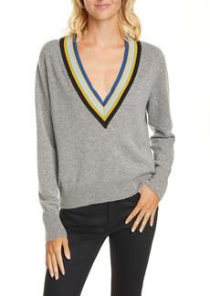 Veronica Beard Jessel Merino Wool & Cashmere Tennis Sweater
