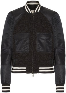 Veronica Beard Jones shell and corded lace bomber jacket