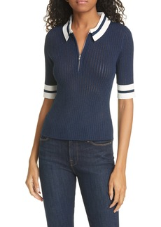 Veronica Beard Jorja Zip Plack Polo