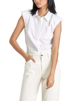 Veronica Beard Kat Strong Shoulder Shirt