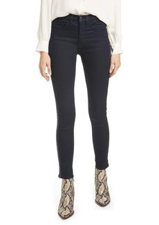 Veronica Beard Kate Tux Stripe High Waist Ankle Skinny Jeans