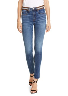 Veronica Beard Kate Tux Waistband Skinny Jeans (Nantucket)