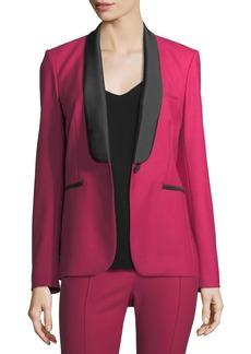 Veronica Beard Keaton Single-Button Shawl-Lapel Tuxedo Blazer