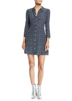 Veronica Beard Kingsley Floral Snap-Front Shirtdress