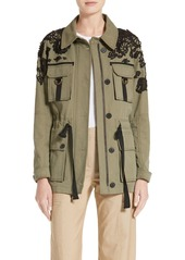 Veronica Beard Lace Trim Heritage Utility Jacket