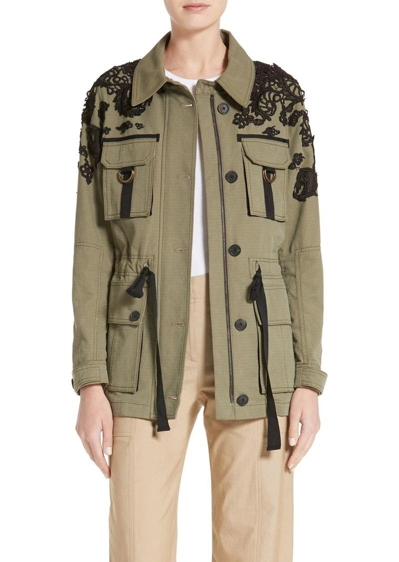 Veronica Beard Lace Trim Heritage Utility Jacket