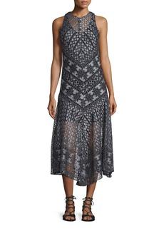 Veronica Beard Laguna Geo-Lace Midi Dress