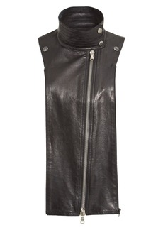 Veronica Beard Lambskin Leather Moto Dickey