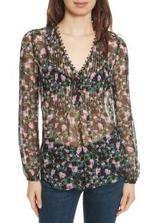 Veronica Beard Lowell Floral Silk Blouse