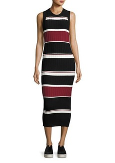 Veronica Beard Macgraw Sleeveless Striped Midi Dress