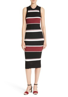 Veronica Beard Macgraw Stripe Midi Dress