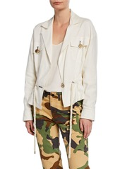 Veronica Beard Magni One-Button Jacket with Drawcord