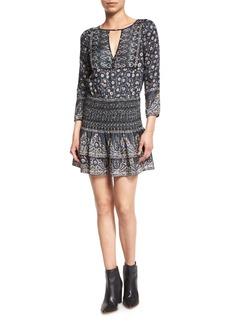 Veronica Beard Makai Printed Silk Boho Dress