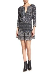 Veronica Beard Makai Printed Silk Boho Dress