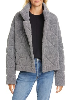 Veronica Beard Marshal Metallic Quilted Coat