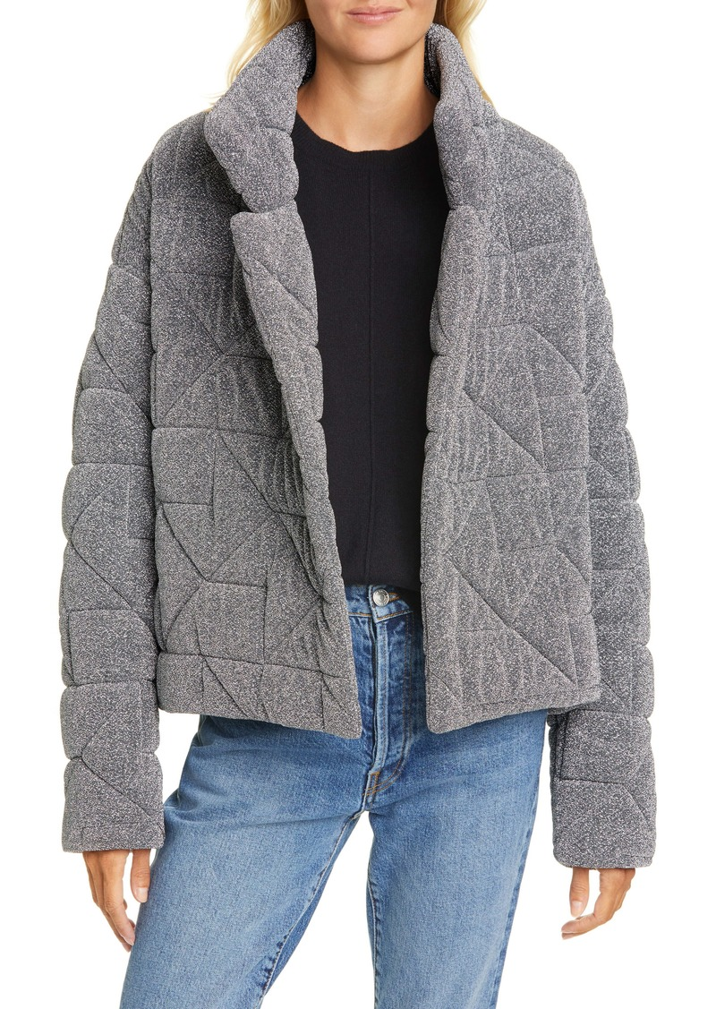 Veronica Beard Marshal Metallic Quilted Coat