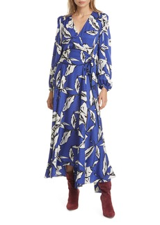 Veronica Beard Mclean Floral Silk Long Sleeve Maxi Dress