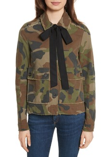 Veronica Beard Mercer Camo Print Jacket