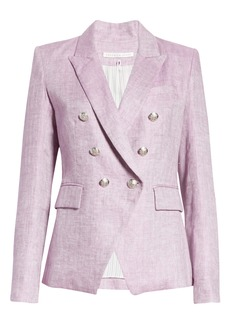 Veronica Beard Miller Herringbone Linen Dickey Jacket