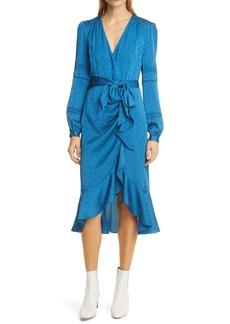 Veronica Beard Miriam Tie Waist Long Sleeve Dress