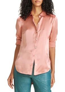 Veronica Beard Morgane Silk Button-Up Shirt