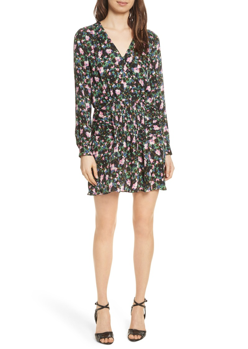 Veronica Beard Naomi Floral Print Silk Dress