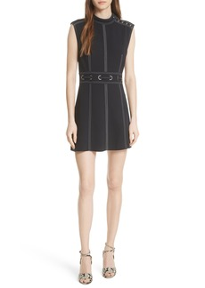 Veronica Beard Niko Contrast Stitch Dress