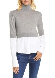 Veronica Beard Nina Mixed Media Sweater