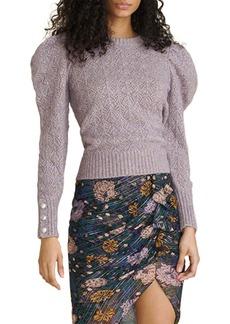 Veronica Beard Novah Puff Sleeve Sweater