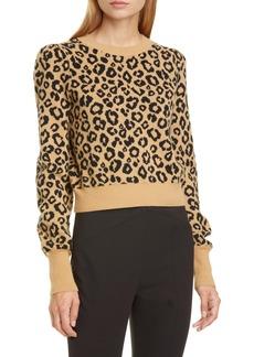 Veronica Beard Penny Wool Blend Crop Sweater