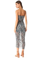 Veronica Beard Peyton Strapless Ruched Dress