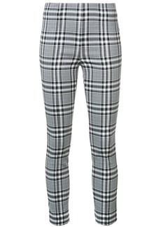 Veronica Beard plaid print leggings - Black