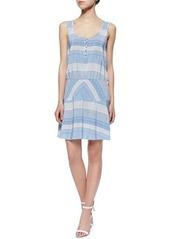 Veronica Beard Printed A-Line Silk Dress