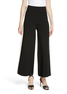 Veronica Beard Roland Side Stripe Wide Leg Pants