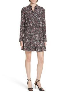 Veronica Beard Rory Stretch Silk Shirtdress