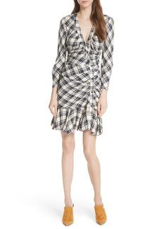 Veronica Beard Rowe Asymmetrical Button Dress