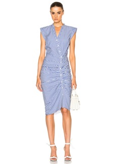 Veronica Beard Ruched Shirt Dress
